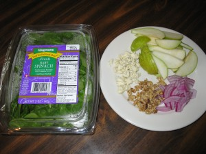 Prepared Ingredients For the Salad