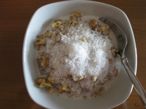 Walnut-Coconut-Banana Oats